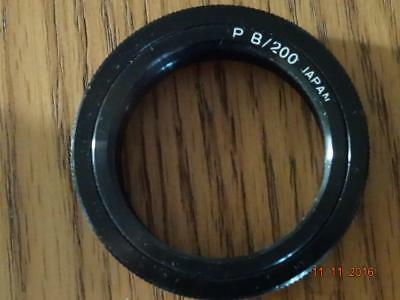 PRAKTICA B 200 fit T mount adapter for slide copier or telescope