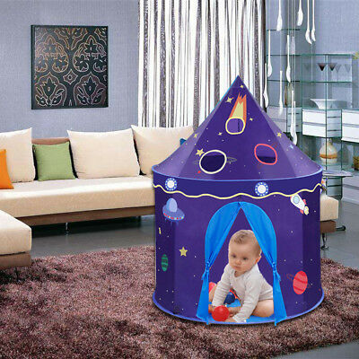 Space Rocket Ship Play Tent Foldable Pop Up Kids Tent for Indoor & Outdoor Us...