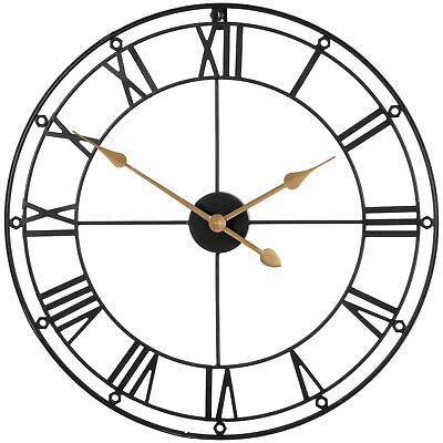 Premier Housewares Black and White Skeleton Wall Clock