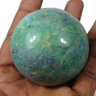 1115 Ct Biggest Red Ruby in Green Zoisite Polished Stone Sphere Crystalline Ball