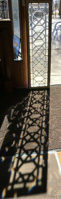 "Beautiful Antique Beveled Glass Transom Window 62"" by 18 Circa 1900"