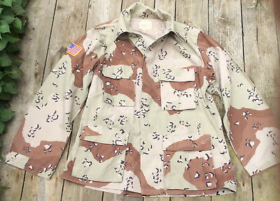 US Military Issued Desert Storm Era Chocolate Chip Camouflage Uniform Top