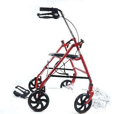 Drive 4-Wheel Adult Rollator Walker, Fold Up & Removable Back Support 10257RD-1