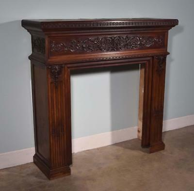 *Antique French Fireplace Surround/Mantel in Walnut