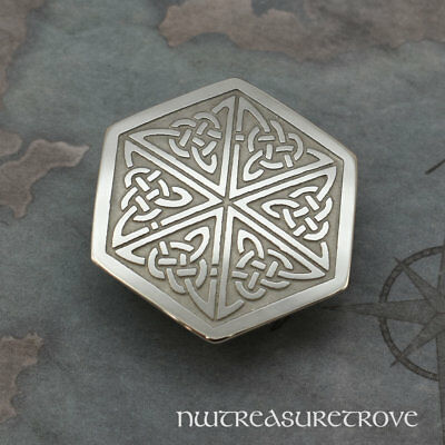Celtic Hexagon Knot Nickel Silver Hair Tie NHT-47