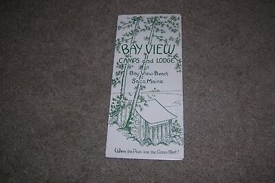 Vintage 1950's Brochure Bay View Camps & Lodges, Saco Maine