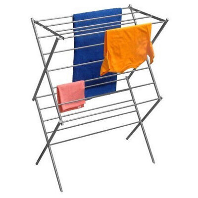 YBM Home #1622-11 Steel 2-tier Water-resistant Deluxe Foldable Clothes Drying