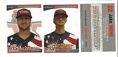2018 Salem-Keizer Volcanoes Complete Team Set  W/ Joey Bart Rc San Francisco