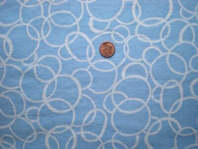 GEOMETRIC on BLUE Vtg FEEDSACK Quilt Sewing Doll Clothes Craft Cotton Fabric