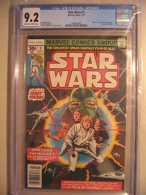 Star Wars (1977) #1 1st Print CGC 9.2 Off White to White  First Issue   item#cm2