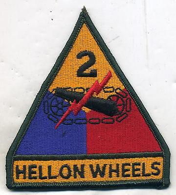 US Army 2nd Armored Hell on Wheels Color Patch New