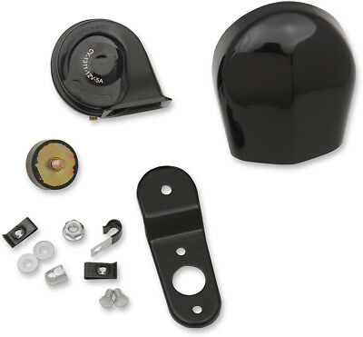 Drag Specialties Electric Horn Kit Black For Touring, Softail, Dyna, XL Models