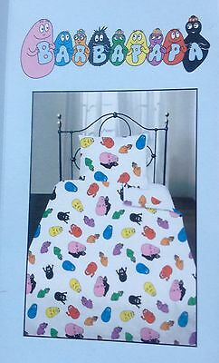 Barbapapa Cot Crib Quilt Doona Duvet Cover Bedding Set New BNIP Pure Cotton