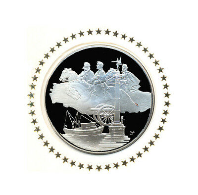 1976 State Of Georgia Franklin Mint Sterling Silver Bicentennial Medal w/FDC