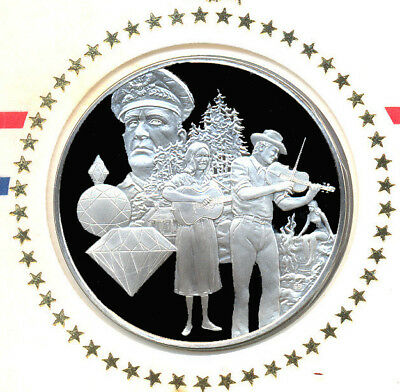 1976 State Of Arkansas Franklin Mint Sterling Silver Bicentennial Medal w/FDC