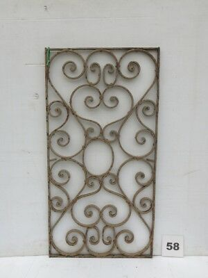 Antique Egyptian Architectural Wrought Iron Panel Grate (IS-058)