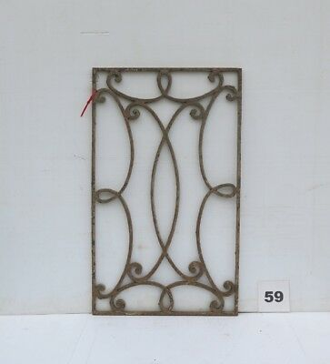 Antique Egyptian Architectural Wrought Iron Panel Grate (IS-059)