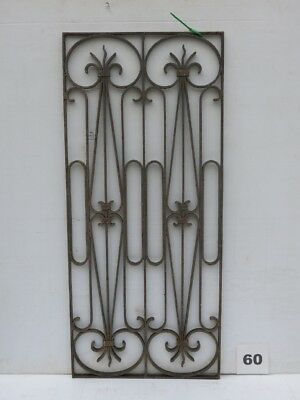 Antique Egyptian Architectural Wrought Iron Panel Grate (IS-060)