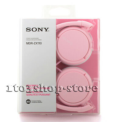 Sony MDRZX110 Wired Lightweight Foldable Headband On-Ear Stereo Headphones Pink