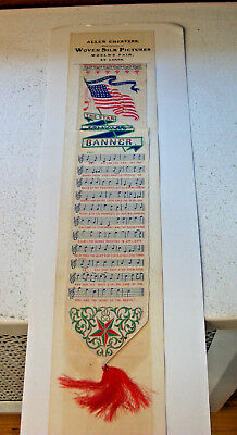 1904 St. Louis Worlds Fair Ribbon - Star Spangled Banner on Original Cardboard