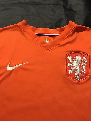 a1909f41ceb Mens Orange Nike Dri-Fit Netherlands Holland National Soccer Football Jersey  L
