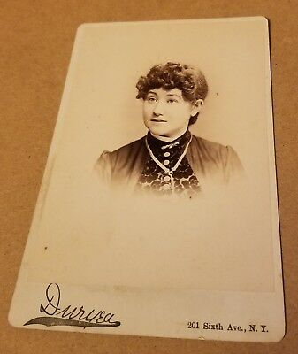 Antique Cabinet Card Photo Lovely Young Woman by Duryea NY