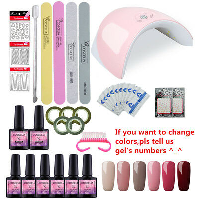 36W UV/LED Nail Dryer 6 Colors Gel Polish Complete Starter Kit/Set Varnish Set