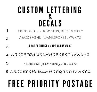 Custom Lettering stickers & decals