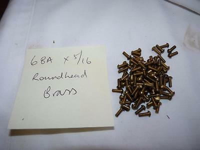 6 Ba X  5/16  Brass Round Head Screws X 15- Free Post