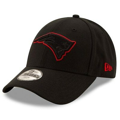 New England Patriots New Era Youth Momentum 9FORTY Adjustable Hat - Black