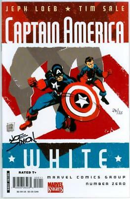 Captain America White #0 Df Dynamic Forces Signed Joe Simon Creator Coa Ltd 35