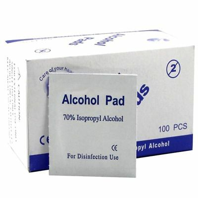 100Pcs Portable Alcohol Prep Pads Antiseptic Sterilization Swabs Wipes Cleanser