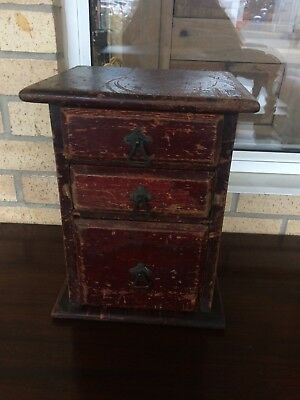 Antique Victorian Stained Pine Collector's Cabinet