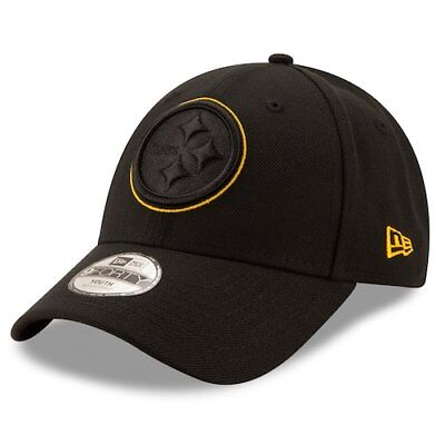 Pittsburgh Steelers New Era Youth Momentum 9FORTY Adjustable Hat - Black