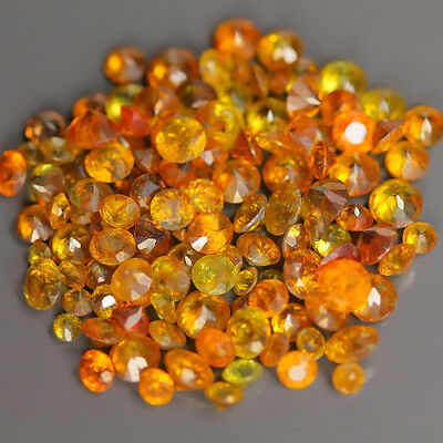 22.04 Ct Natural SPAIN Brownish Yellow SPHALERITE Round&Oval Gem @ See Video !!
