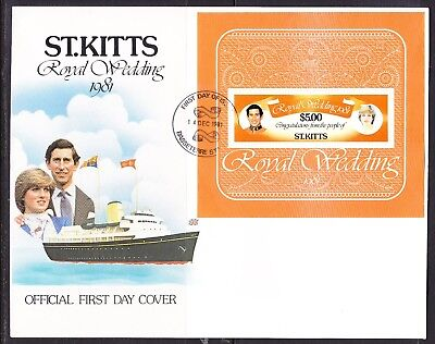 St Kitts 1981 Royal Wedding First Day Cover