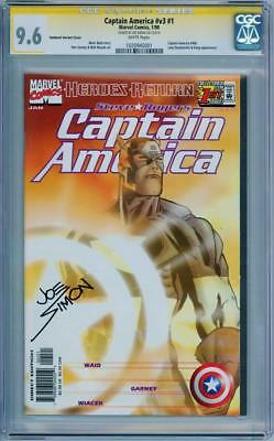 Captain America #1 Sunburst Variant Cgc 9.6 Signature Series Signed Joe Simon