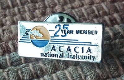 ACACIA National Fraternity lapel pin pre-owned 25 Year Member