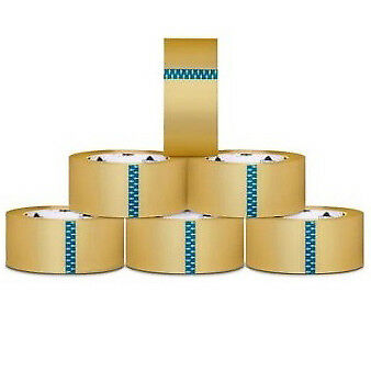 216 Rolls Carton Sealing Clear Packing / Shipping / Box Tape- 2.5 Mil- 2-inch x