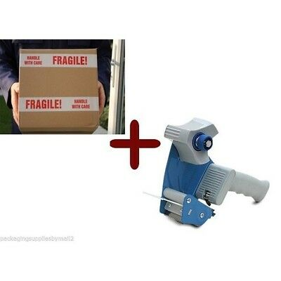 24 Rolls Fragile Shipping Tape 3-inch x 110 Yards 2 Mil + (1) Free 2-inch Tape