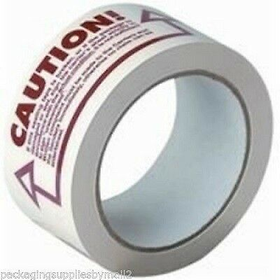 (36) 2-inch x 110 YARDS CAUTION PRINTED BOX PACKING SHIPPING TAPE