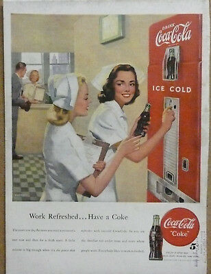 1948 Coca-Cola Nurse Ad Vending Machine Print Ad