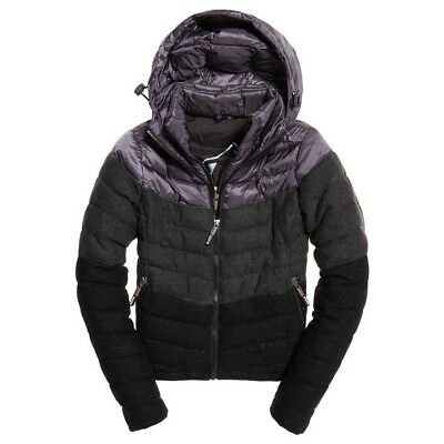 Superdry Fuji Chevron Mix Hooded Charcoal Mix , Abrigos y parkas Superdry , moda