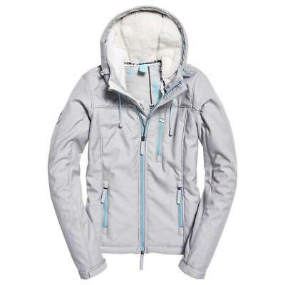 Superdry Hooded Winter Windtrekker Heelflip Grey Marl / Blue Turquoise Superdry