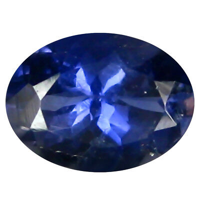 1.00 Ct AAA Splendid Forme Ovale (8 X 6 mm) Iolite Naturel Libre Pierre