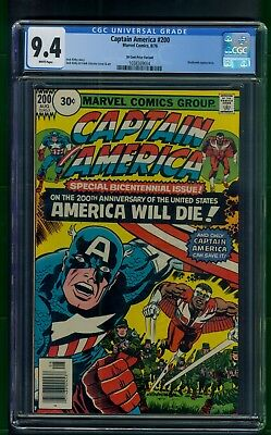 Captain America #200 (1976) CGC Graded 9.4 ~ 30 Cent Variant ~ Jack Kirby Cover