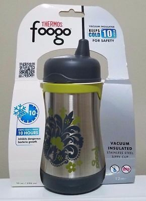 Thermos Foogo Vacuum Insulated Stainless Steel Sippy Cup 10 oz Tripoli