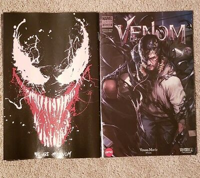 Venom Marvel AMC Limited Edition Movie Comic in hand.