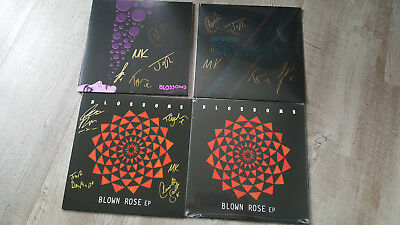 """Blossoms 10""""s At Most A Kiss, Getaway, Blown Rose all Signed"""