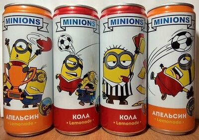 Despicable Me Minions New set of 4 cans Football edition from Russia
